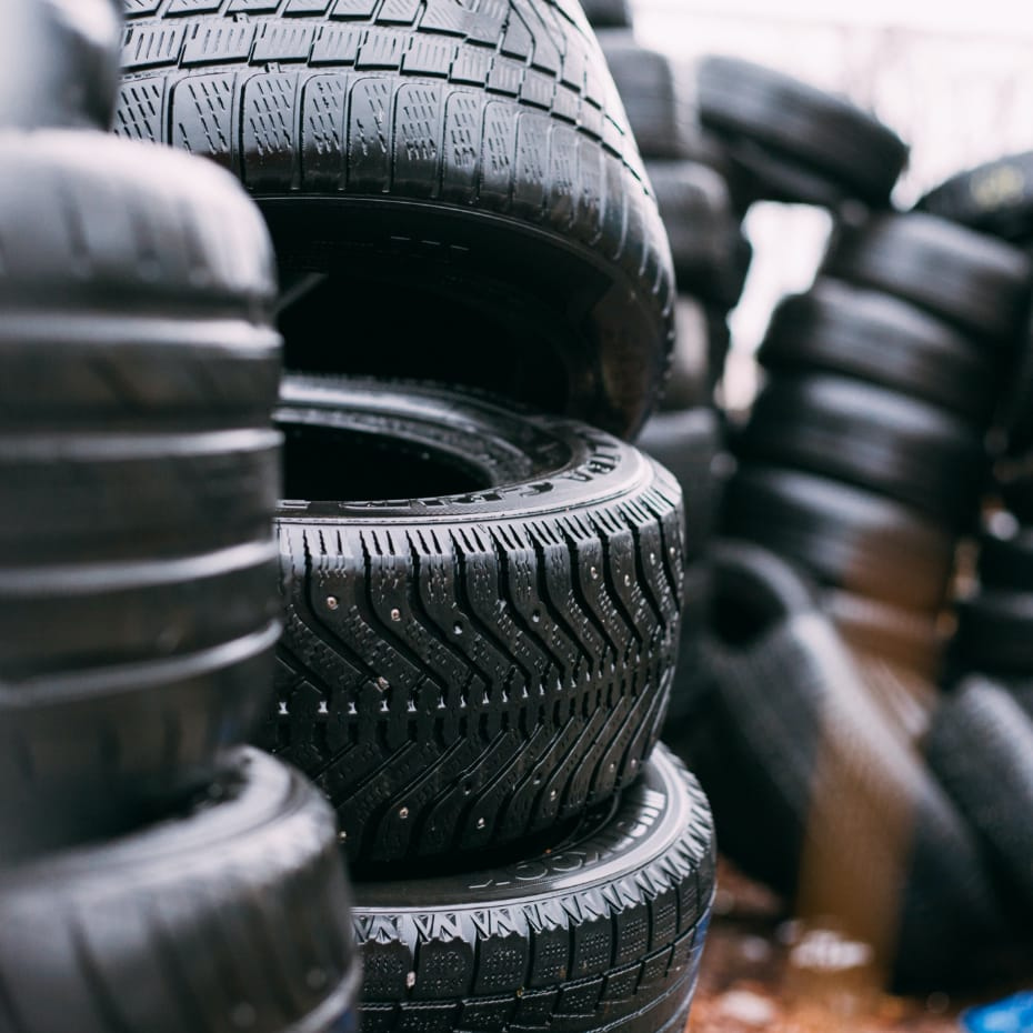 collection of tyres